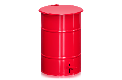 Refuse Bin 30 l including Pedal Red