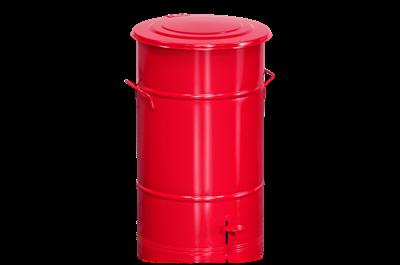 Avfallsbehållare 70 l inklusive Fotpedal Röd