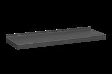 Plåthyllplan Perforerad 900x300 mm Grå