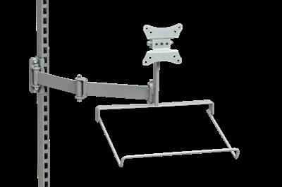 Flatscreenhalter f. Schwenkarm m. Tastaturablage 360x230x350 mm
