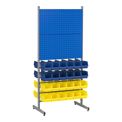 Complete T-Rack 6 including 48 Plastic Bins