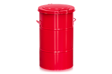 Avfallsbehållare 115 l Röd