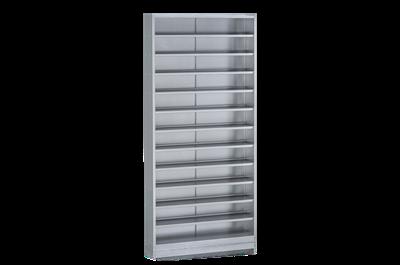 Bin Cabinet including 12 Shelves 950x260x1980 mm