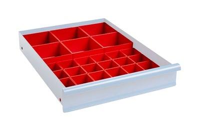 Lådinredning 100 mm Plastlådor Kombination 1