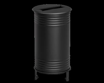 Avfallsbehållare Tin, Papper, Svart