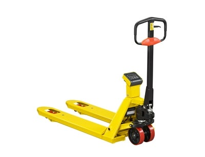 Hand Palllet Truck including Scale 1150 mm Boggie Polyurethane Yellow