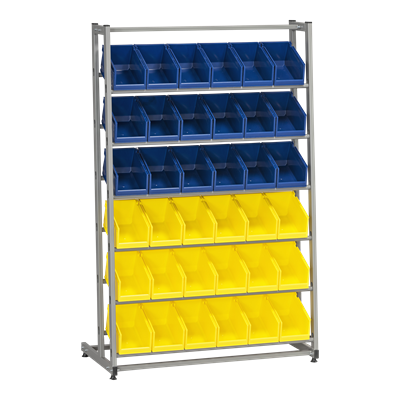 Complete Bin Rack HD 300/1 including 36 Plastic Bins