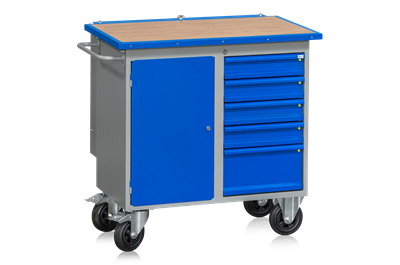 Mobile Workbench HD 200 5 Drawers 1 Door