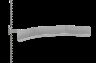 Gewinkelte Aufhängleiste Grau 845 mm zur Befestigung an Schwenkarmen