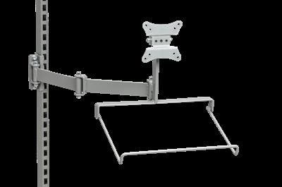 Flatscreenhalter inkl. Tastaturablage und Schwenkarm