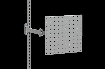 Lochrasterplatte für Schwenkarm 370x370 mm Grau