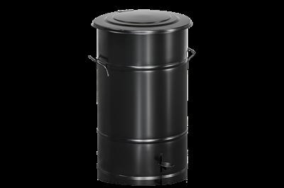 Avfallsbehållare 70 l inklusive Fotpedal Svart