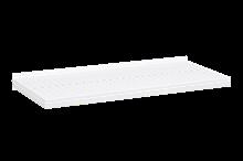 Plåthyllplan Perforerad 900x400 mm Vit