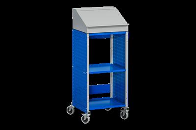 Werkstattwagen mit Pult Flex 160 Grau/Blau