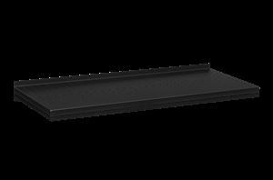 Plåthyllplan Perforerad 900x400 mm Svart