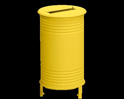 Avfallsbehållare Tin, Papper, Gul