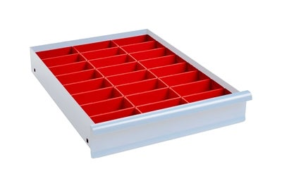 Lådinredning 100 mm Plastlådor Kombination 5