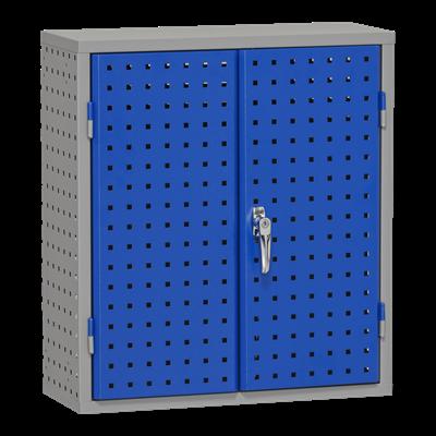 Werkzeugschrank gelocht 870x250 mm Grau und Blau
