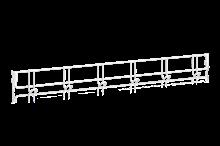 Klädkroklist 900 mm 6 Krokar Vit