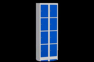 Klädskåp Tilläggssektion 4 Dörrar Blå