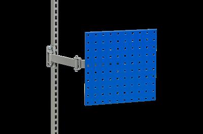 Lochrasterplatte m. Schwenkarm Blau
