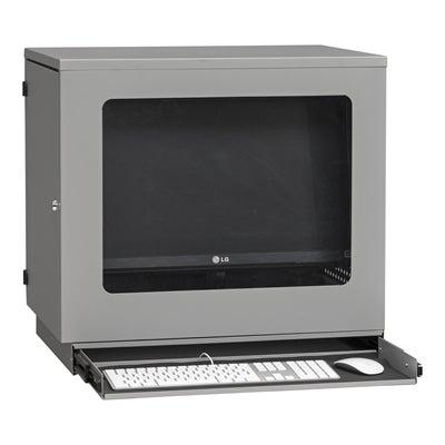 Computerschrank für Flatscreen Wandmontiert Grau 640x450x595 mm
