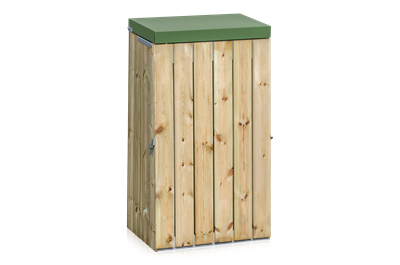 Litter Bin Wood Panel with Lid 125 L