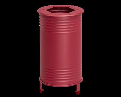 Avfallsbehållare Tin, Brännbart, Röd