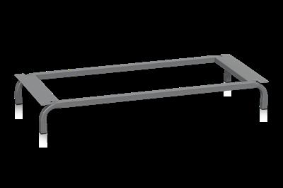 Klädskåpsstaiv 1200 mm Mörkgrå