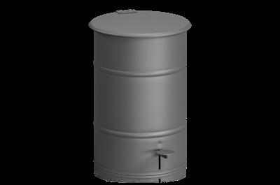Avfallsbehållare 30 l inklusive Fotpedal Grå