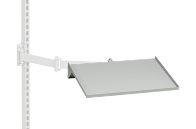 Laptopablage f. Schwenkarm 435x310 mm Grau