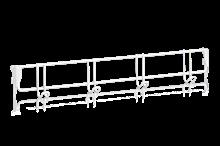 Klädkroklist 600 mm 4 Krokar Vit