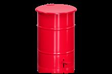 Avfallsbehållare 30 l inklusive Fotpedal Röd