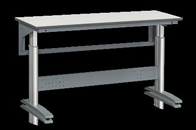 Bordsstativ W 250 1600x600 mm Grå Laminat