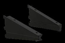 Hyllkonsoler Vinklingsbara 300 mm Svart