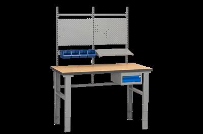 Arbeitstisch Komplett HD 4 Holzfaserplatte mit Massivholzkern 1600x800