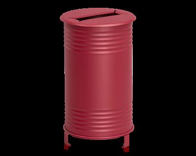 Avfallsbehållare Tin, Papper, Röd