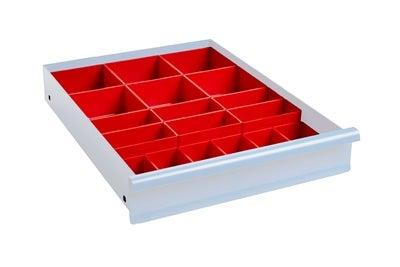 Lådinredning 100 mm Plastlådor Kombination 4
