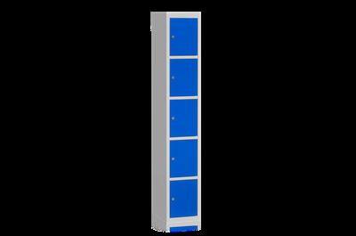 Klädskåp Bassektion 5 Dörrar Blå