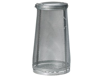 Litter Bin 125 l Expanded Metal Galvanized
