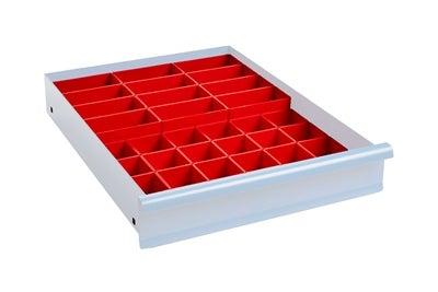 Lådinredning 100 mm Plastlådor Kombination 3
