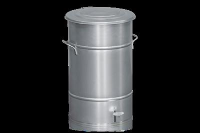 Avfallsbehållare 70 l inklusive Fotpedal Galvaniserad