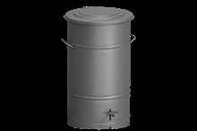 Avfallsbehållare 70 l inklusive Fotpedal Grå