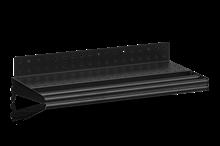 Hyllplan Perforerad inklusive Klädstång 600 mm Svart