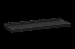 Plåthyllplan Perforerad 900x300 mm Svart