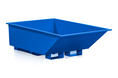 Kippbehälter mit niedriger Bauhöhe, 550 l