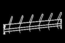 Stövelupphängningslist 900 mm Vit