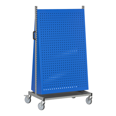 Assembly Trolley incl. 2 Angled Perforated Panels