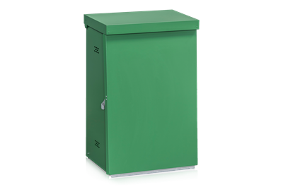 Litter Bin Sheet Metal Green