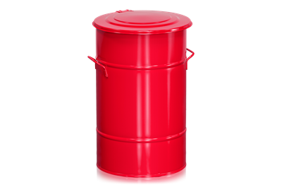 Avfallsbehållare 70 l Röd
